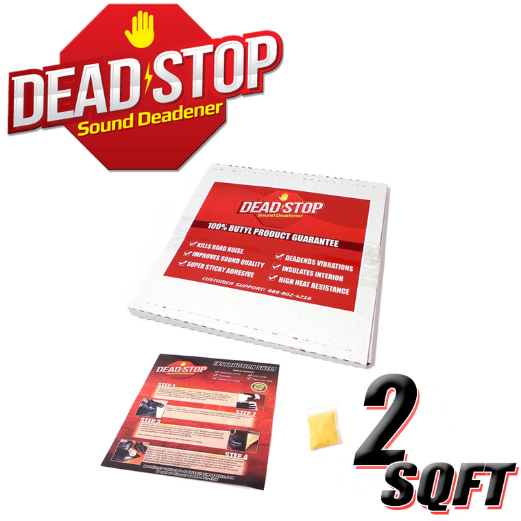 2 SqFT Dead Stop 80mil Premium Black Butyl Sound Deadener Sheets