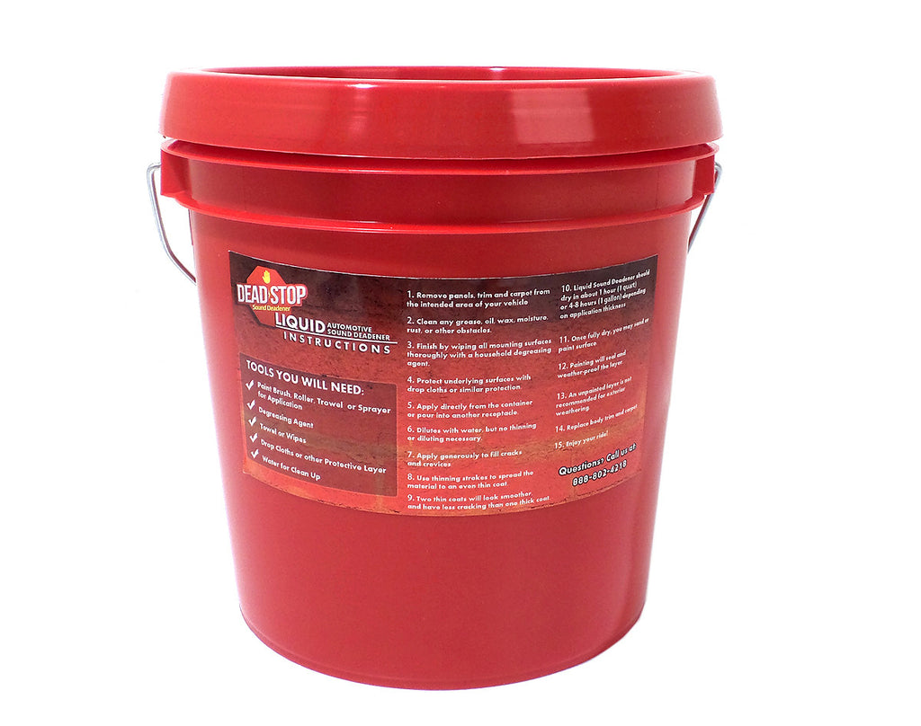 1 Gallon Dead Stop Liquid Damp with 20 SqFT Dead Stop 80mil Black Aluminum Butyl Combo Kit