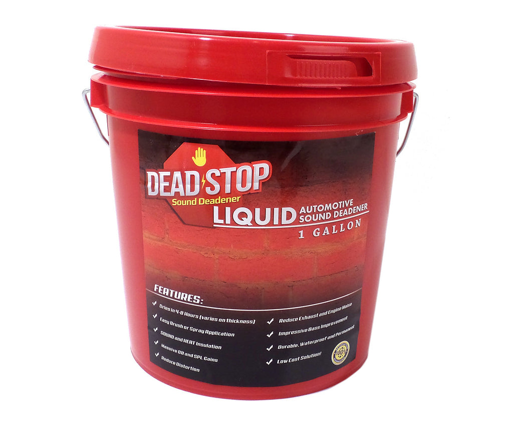 1 Gallon Dead Stop Liquid Damp with 36 SqFT Dead Stop 80mil Black Aluminum Butyl Combo Kit