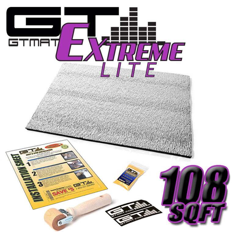 108 SQ FT GTMAT Extreme Lite Car Sound Deadener