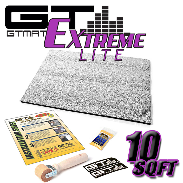 10 SQ FT GTMAT Extreme Lite Car Sound Deadener