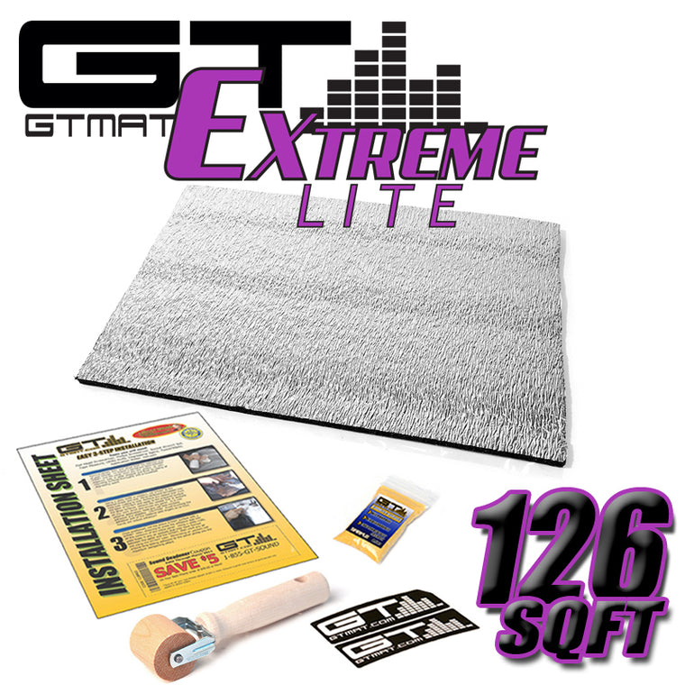126 SQ FT GTMAT Extreme Lite Car Sound Deadener