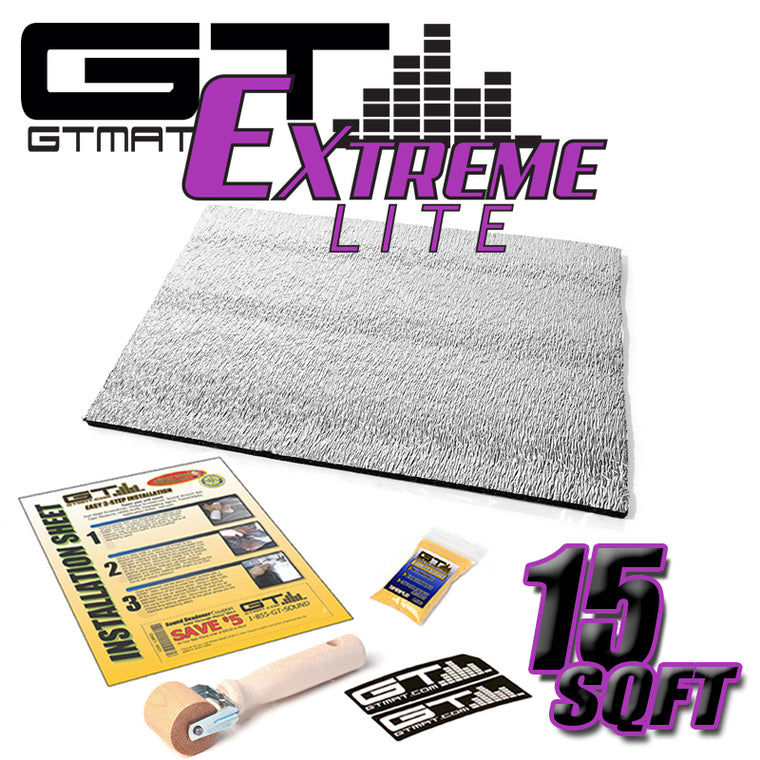 15 SQ FT GTMAT Extreme Lite Car Sound Deadener