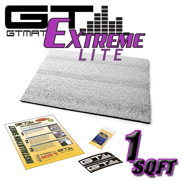 1 SQ FT GTMAT Extreme Lite Car Sound Deadener