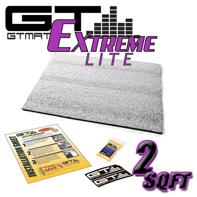 2 SQ FT GTMAT Extreme Lite Car Sound Deadener