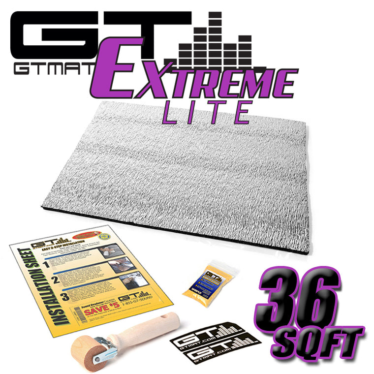 36 SQ FT GTMAT Extreme Lite Car Sound Deadener