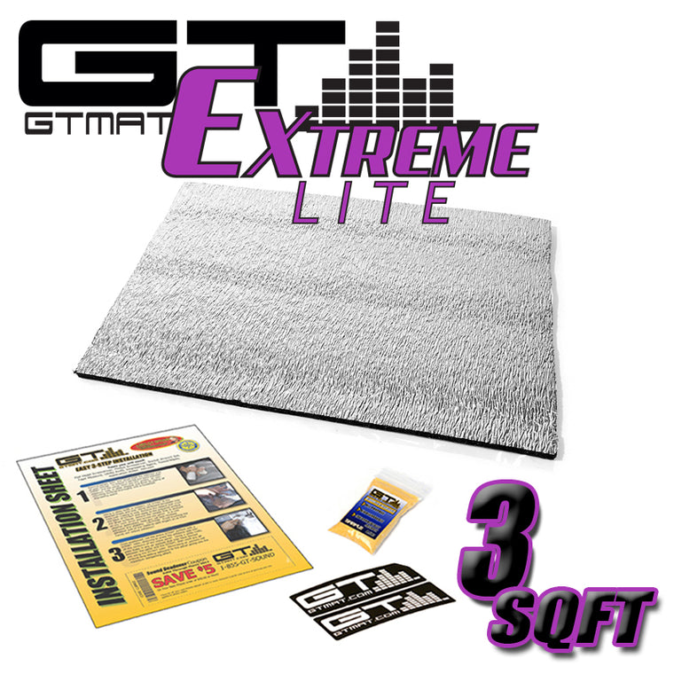 3 SQ FT GTMAT Extreme Lite Car Sound Deadener