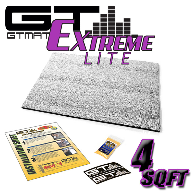 4 SQ FT GTMAT Extreme Lite Car Sound Deadener