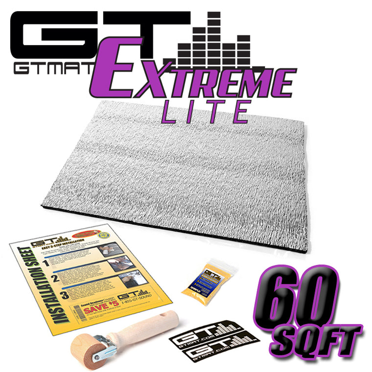 60 SQ FT GTMAT Extreme Lite Car Sound Deadener