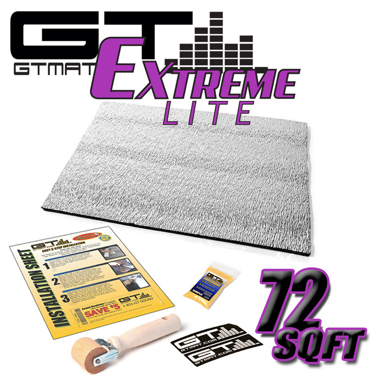 72 SQ FT GTMAT Extreme Lite Car Sound Deadener
