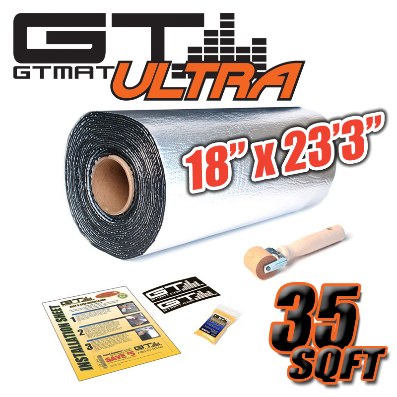 "35sqft 1 Roll of 18""x23'3"" GTmat 80mil Car Automotive Sound Deadener Material"
