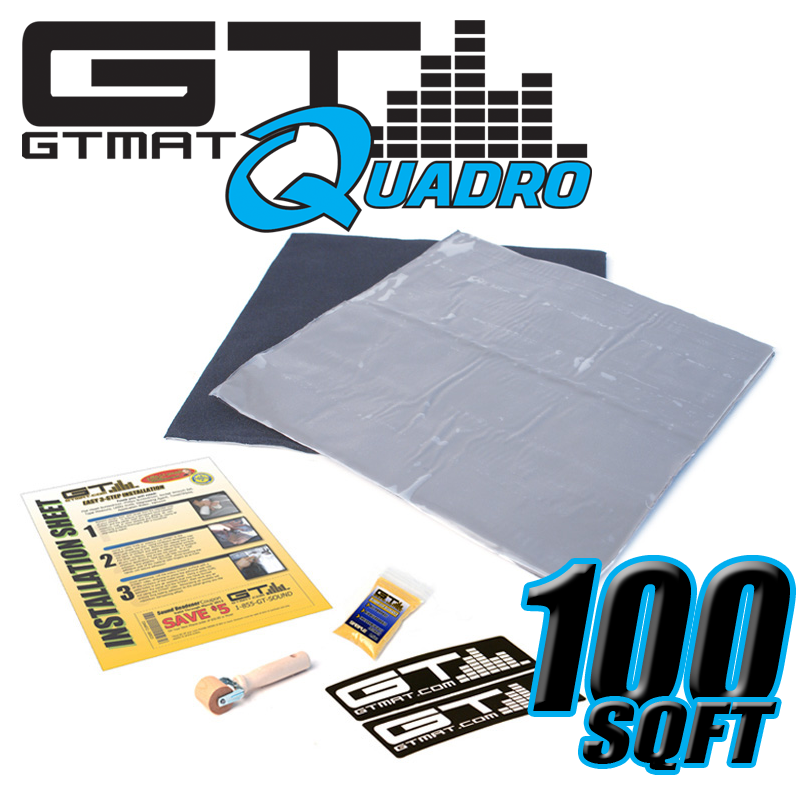 100 SQ FT GTMAT Quadro Car Audio Sound Deadener
