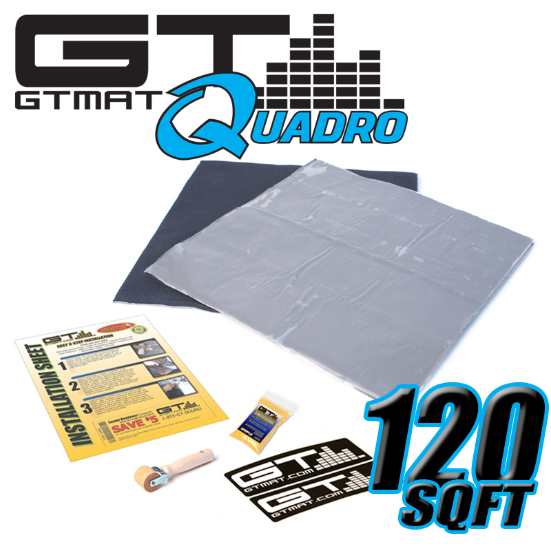 120 SQ FT GTMAT Quadro Car Audio Sound Deadener
