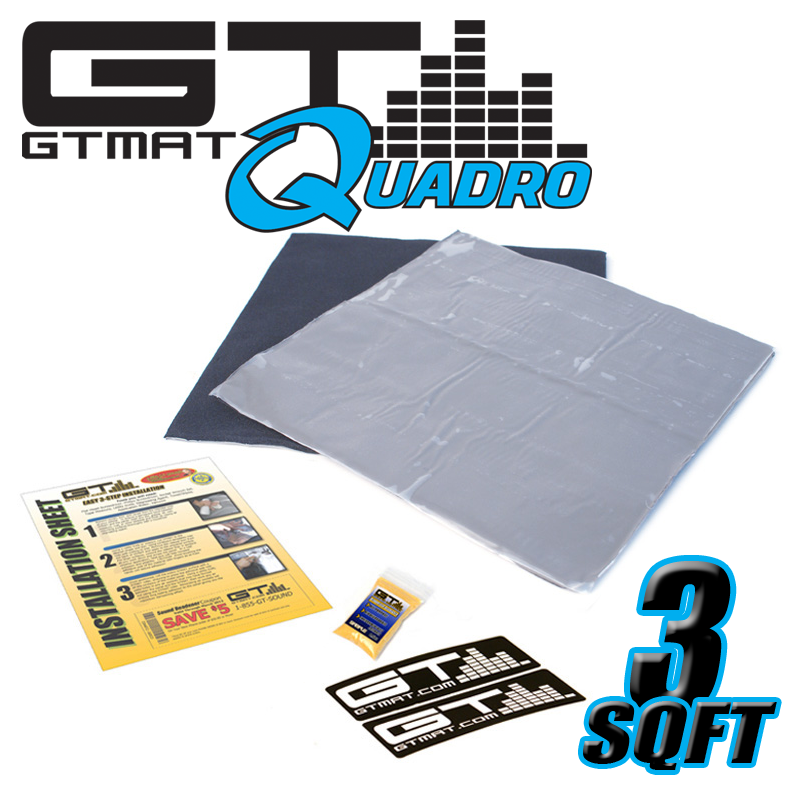 3 SQ FT GTMAT Quadro Car Audio Sound Deadener