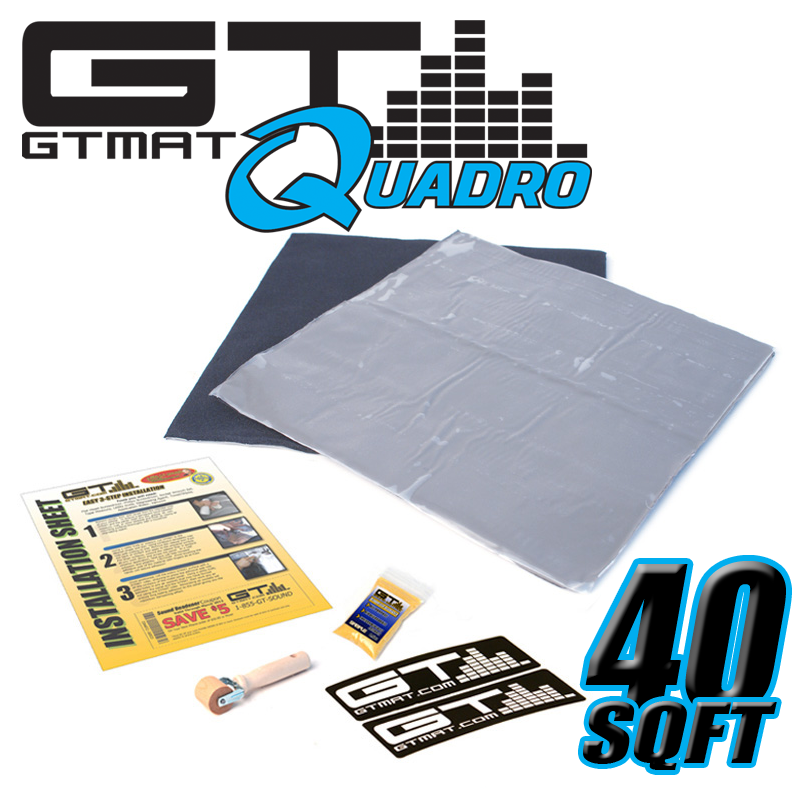 40 SQ FT GTMAT Quadro Car Audio Sound Deadener