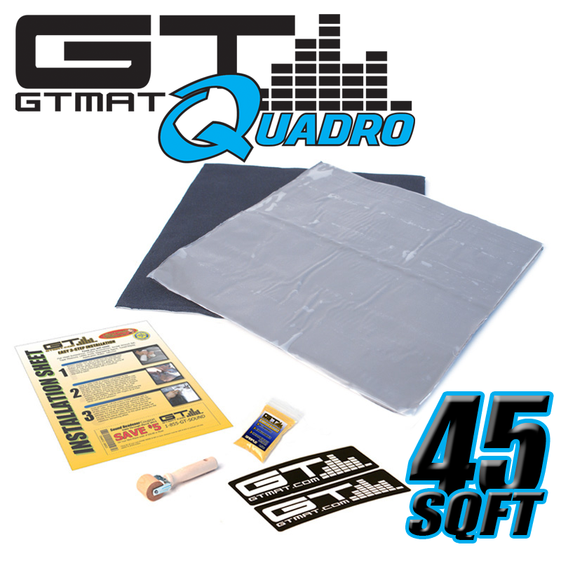 45 SQ FT GTMAT Quadro Car Audio Sound Deadener