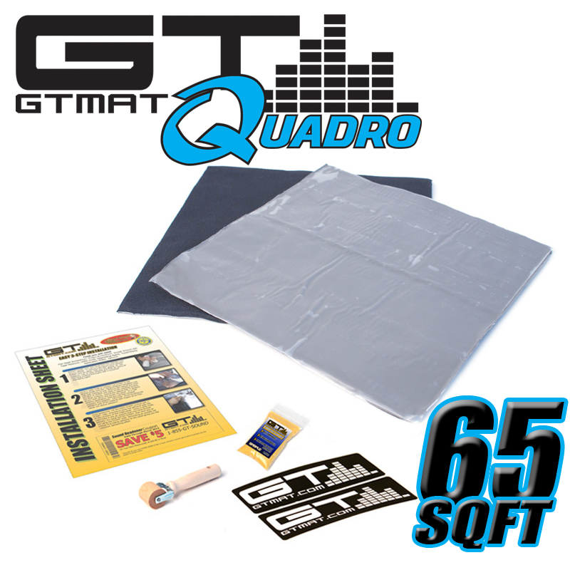 65 SQ FT GTMAT Quadro Car Audio Sound Deadener