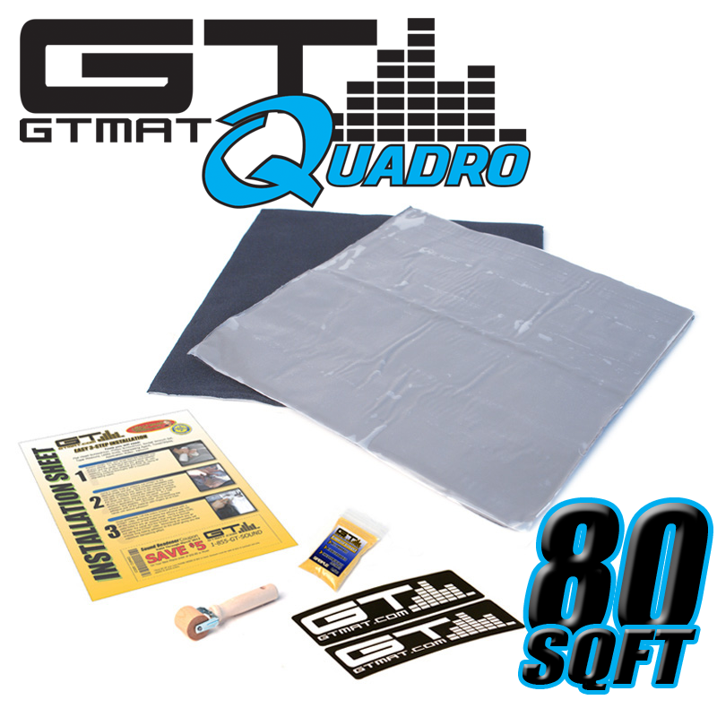 80 SQ FT GTMAT Quadro Car Audio Sound Deadener