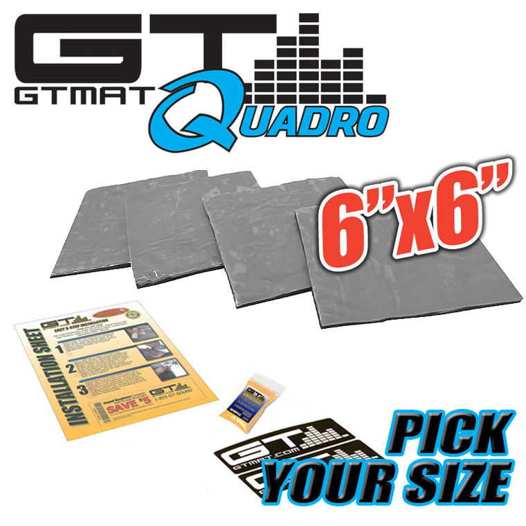 "GTMAT Quadro 6""x6"" Car Audio Sound Deadener - Pick a Size"