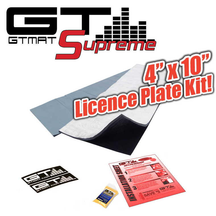 "4""x10"" GTmat Supreme 110 mil Car Licence Plate Kit Sound Deadener"