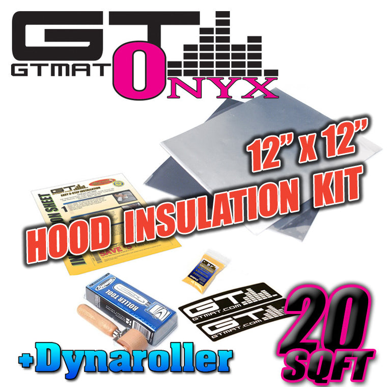 20 SQ FT GTMAT Onyx Butyl Car Sound Deadener Hood Insulation Kit with Dynamat Roller