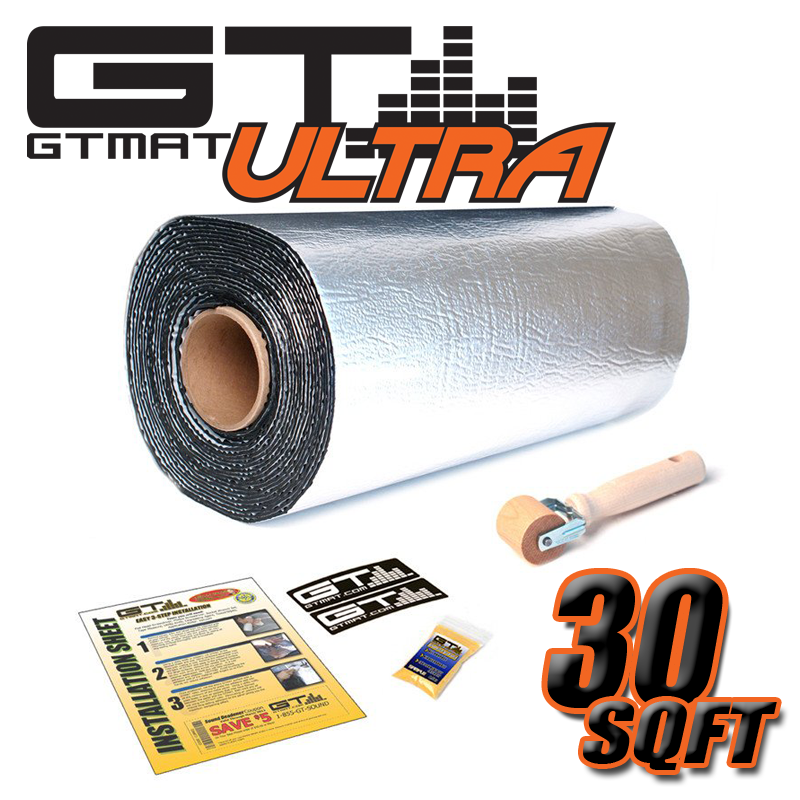 30 SQ FT GTmat Ultra 80mil Car Audio Sound Deadener