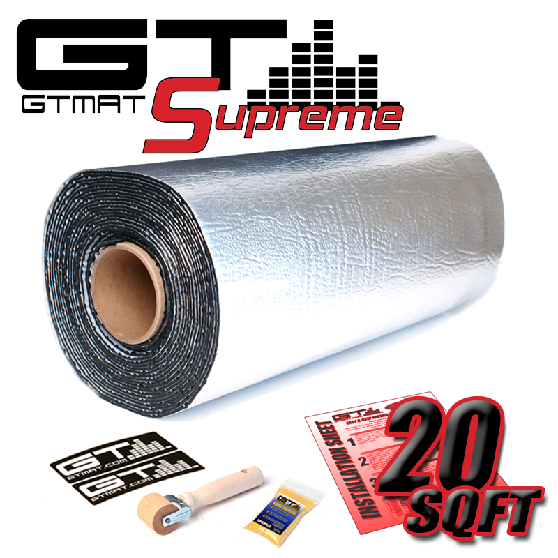 20 SQ FT GTmat Supreme 110mil Car Audio Sound Deadener