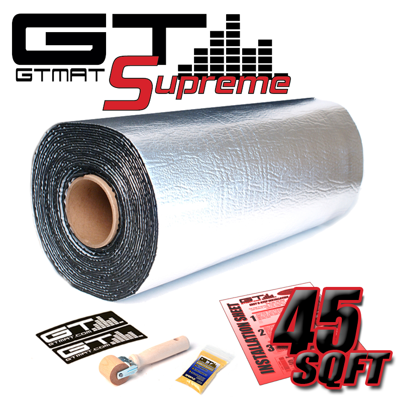 45 SQ FT GTmat Supreme 110mil Car Audio Sound Deadener
