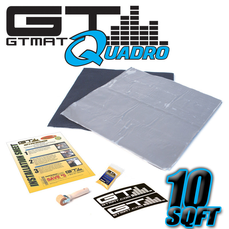 10 SQ FT GTMAT Quadro Car Audio Sound Deadener