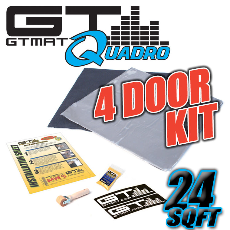 24 SQ FT GTMAT Quadro 4 Door Kit Car Audio Sound Deadener
