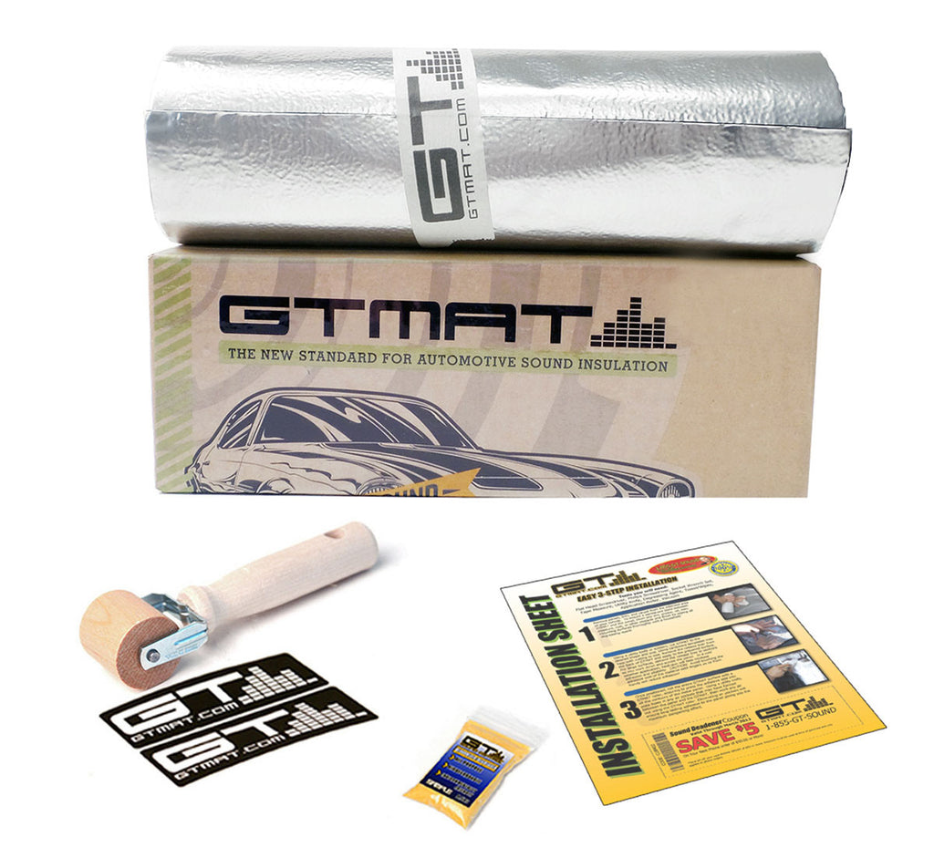 "20 SQ FT 8""x32' GTmat Ultra 80mil Car Sound Deadener Kit with Roller"