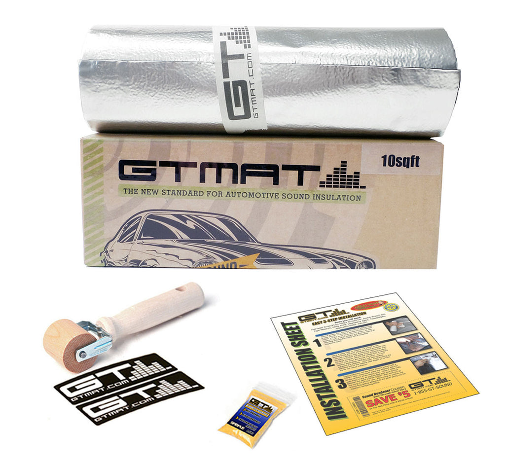 "LIMITED SALE!!!10 SQ FT 8""x16' GTmat Pro 50mil Car Sound Deadener Kit"