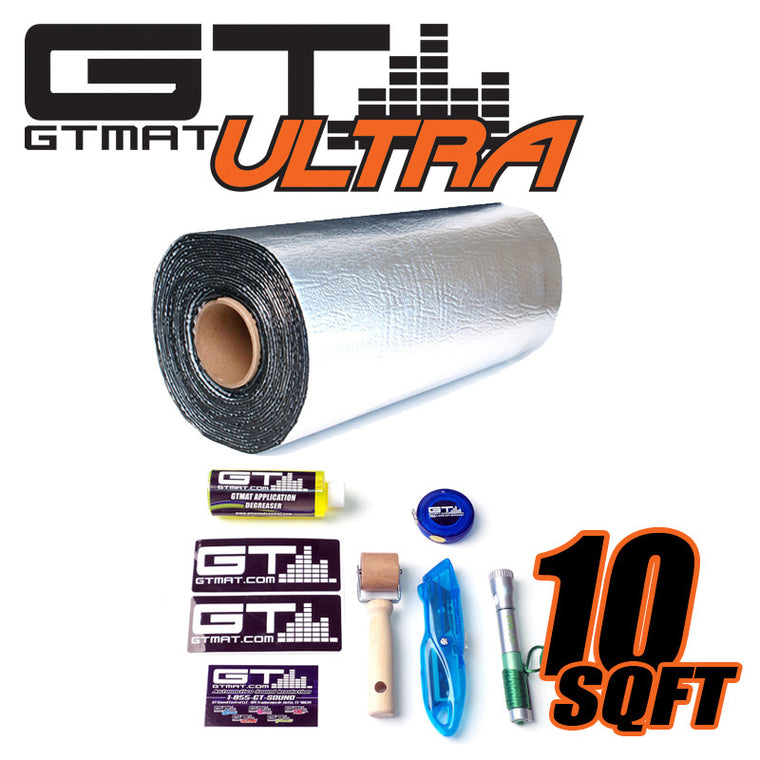 10 SQ FT GTmat Ultra 80mil Car Audio Sound Deadener with Installation Kit