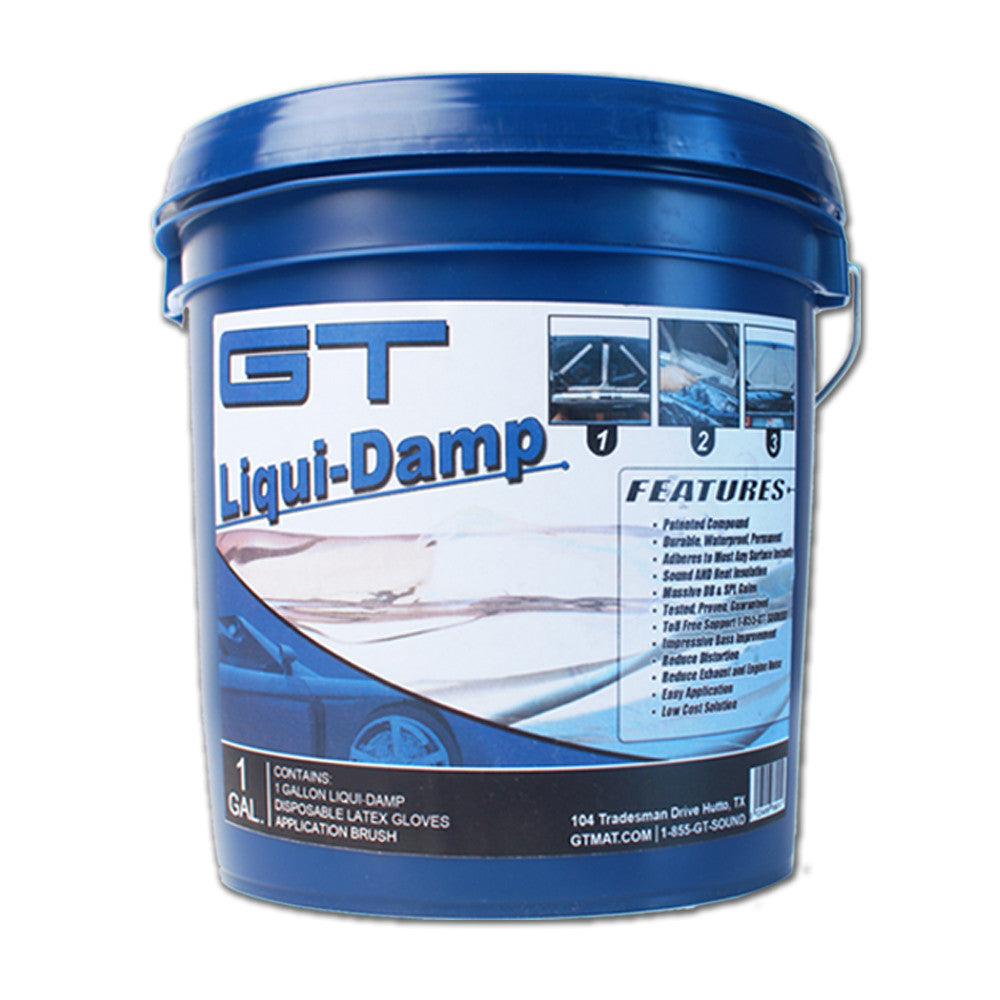 1 Gallon GT Liqui-Damp Liquid Car Audio Sound Deadener