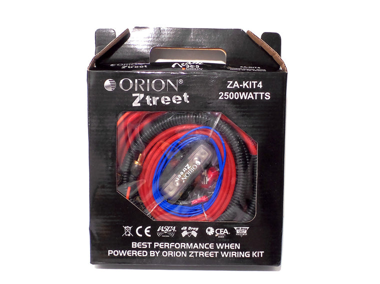 Audio Orion Ztreet 4 Gauge Car Amplifier Wire Kit 2500 Watts ZA-KIT4