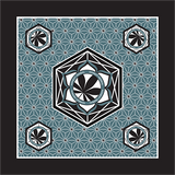 Honest Herbal Teal Bandana