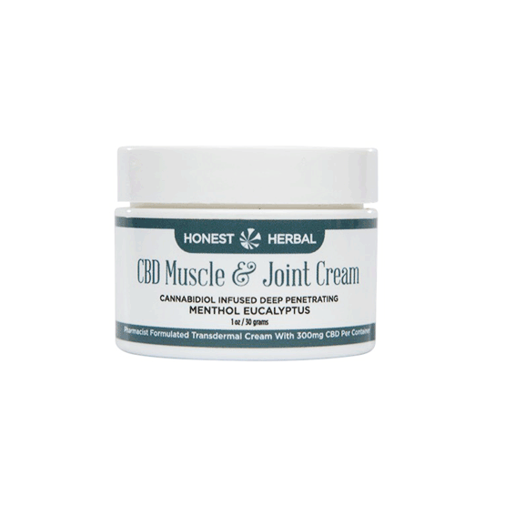 CBD Hemp Muscle & Joint Cream 1% - Transdermal - Honest Herbal