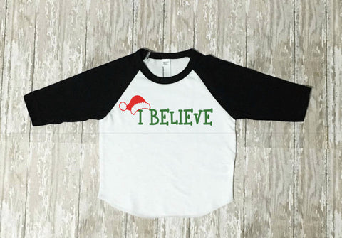 boys christmas shirt i believe christmas shirt