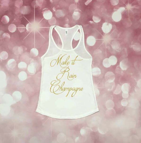 Bridal Shower Gift, Bachelorette Party Shirt, Bachelorette Party Tank, Champagne Tank, Women's tank top *runs small, size up*