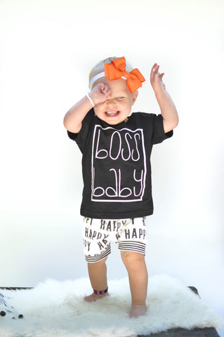 Boss Baby Shirt, Boss Baby, Girls Clothing, Clothing, Toddler Girls Shirt, Tiny Boss Tee, Hipster Girl Tee, Hipster, MonochromeTee