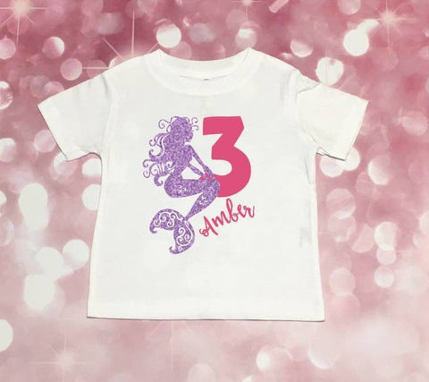 Mermaid Party Shirt, Girls Mermaid Shirt, Under The Sea Party, Personalized Mermaid Shirt, Mermaid Party, Mermaid Shirt, Mermaid Birthday