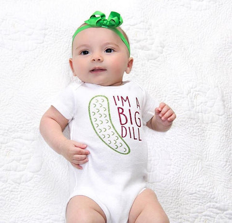Im A Big Dill, Im A Big Dill Bodysuit, Funny Baby Bodysuit, Baby Shower Gift, Funny Pickle Shirt, Funny Pickle Bodysuit, Pickle Gift