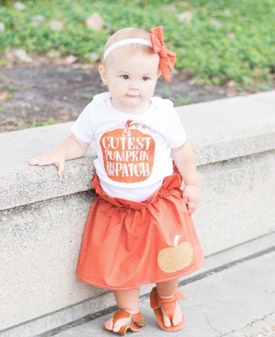 Thanksgiving Bodysuit, Cutest Pumpkin In The Patch, Pumpkin Patch Bodysuit, Girls thanksgiving Bodysuit, Thanksgiving Bodysuits for Girls, pumpkin