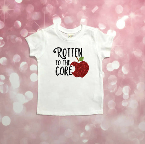 Rotten To The Core, Rotten To The Core Shirt, Descendants, Descendants Shirt, Disney Descendants,  Rotten To The Core Princess Shirt