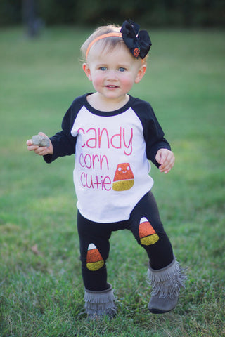 Girls Halloween Outfit, Girls Halloween Shirt, Candy Corn Cutie, halloween girls Shirt, Baby Girl, Candy Corn, Halloween Shirt for Girls