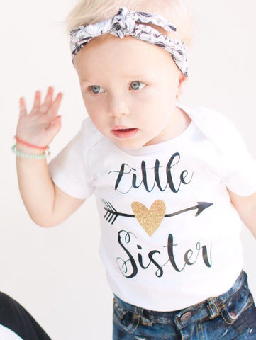 Little Sister Outfit, Little Sister Shirt, Little Sister, Family Picture Outfit, Girls Bodysuit, Baby Girl Bodysuit