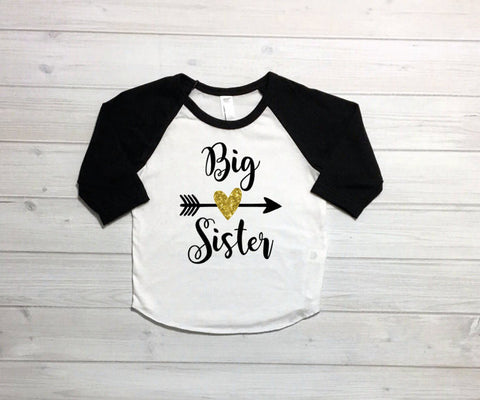 Big sister shirt, Baby announcment shirt, sibling shirts