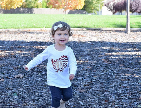Girls Thanksgiving Shirt, Turkey shirt, Monogrammed Thanksgiving Shirt, Thanksgiving outfit, Baby girl Thanksgiving outfit, Girls turkey