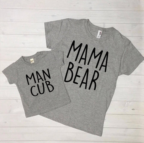 Mom and Me Outfit - Mama Bear - Man Cub - Mommy and Me Outfit - Mom and Son Outfit - baby boy - toddler boy - Baby Bear - mom and me