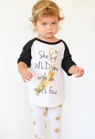 Wild One toddler shirt, She's A WIld One, Country Shirt